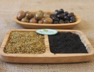 dried olive powder